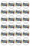 24 x Edible Autism Awareness  Wafer Cup cake Top Toppers